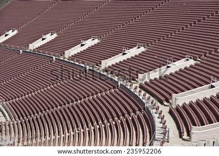 Empty Stadium seating abstract closeup - stock photo