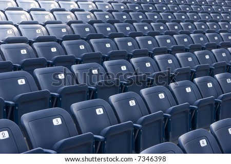 empty stadium seats - stock photo