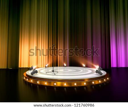 empty stage - stock photo