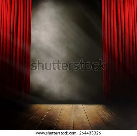 Empty stage before concert - stock photo