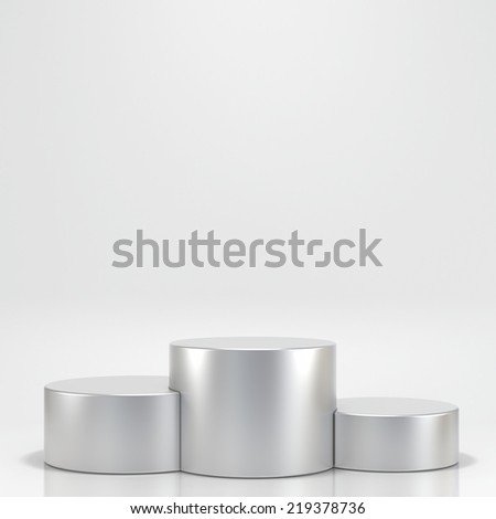 empty stage podium for award ceremony - stock photo