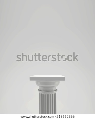 empty stage podiums for award ceremony - stock photo