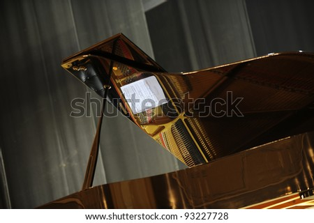 Empty stage with piano. Before Concert - stock photo