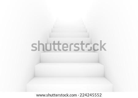 Empty staircase - stock photo
