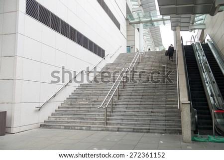 Empty Stairway - stock photo