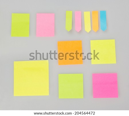 Empty sticky notes - stock photo
