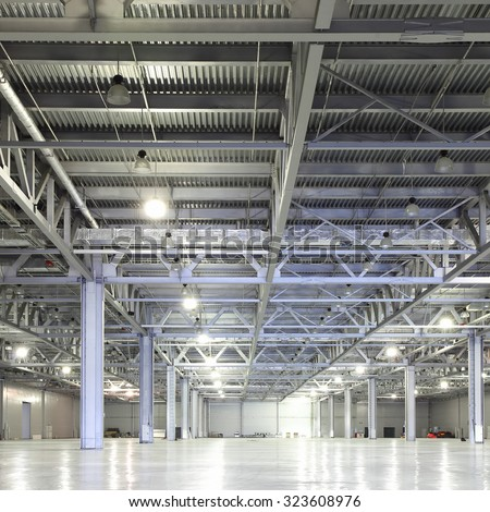 Empty storehouse - stock photo