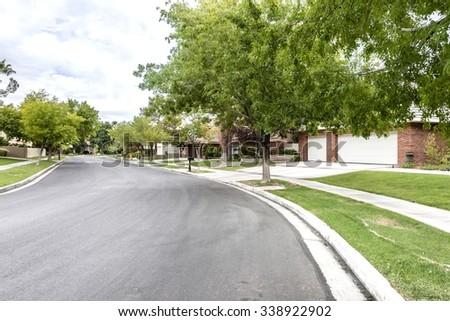 Suburban Neighborhood Stock Images, Royalty-Free Images ...