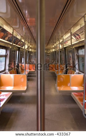 Empty Subway Car - stock photo