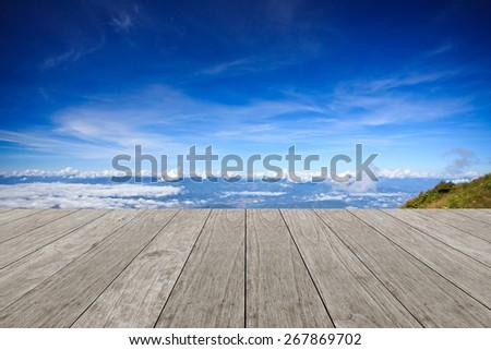 Empty table background - stock photo