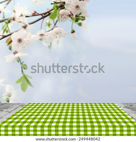Empty table for Your photomontage or product display - stock photo
