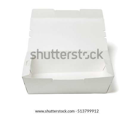 Empty Takeaway Food Container on White Background