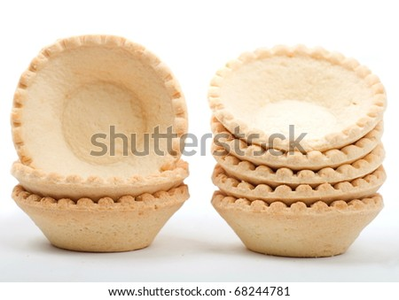empty tartlet isolated on white - stock photo