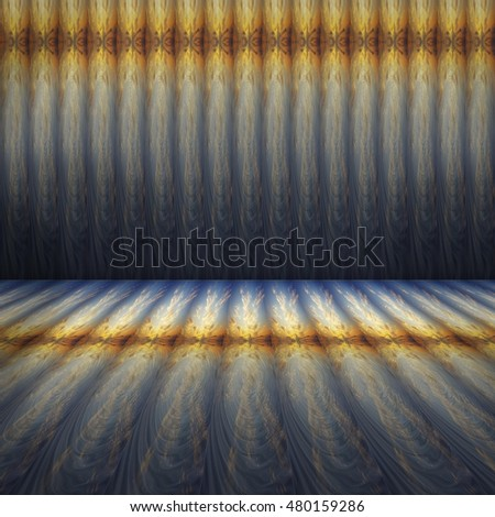 empty textures of colored rolls placed floor  and background,ready display product.