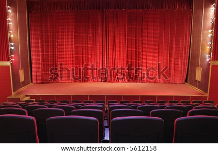 empty theatre auditorium cinema or conference hall. - stock photo