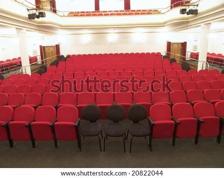 Empty theatre hall - stock photo