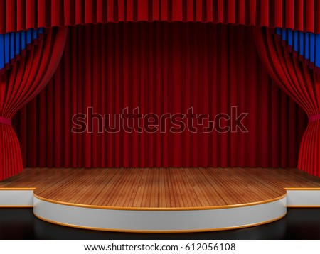 Empty Theatre Stage 3d Illustration