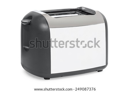 Empty toaster isolated on a white background. - stock photo