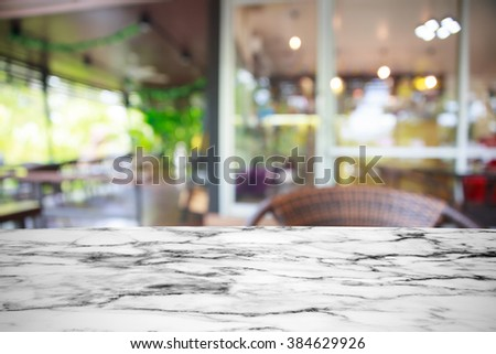 Empty top of white Mable stone table. - stock photo