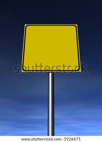 Empty traffic sign. - stock photo