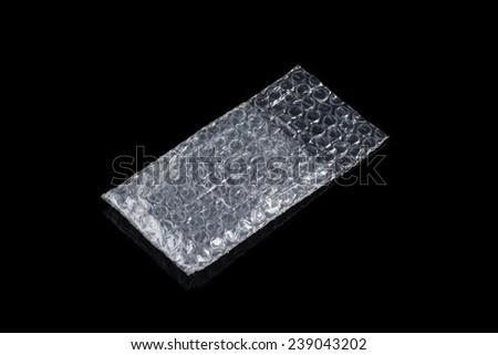 Empty transparent bubbles wrap as protection envelope - stock photo