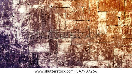 empty wall stone texture old background - stock photo