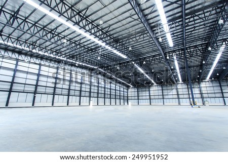 Empty warehouses - stock photo