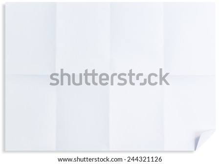 Empty white Crumpled paper isolated on white background - stock photo