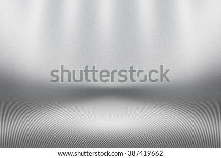 Empty White Floor Background - stock photo