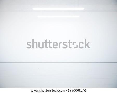 Empty white interior - stock photo