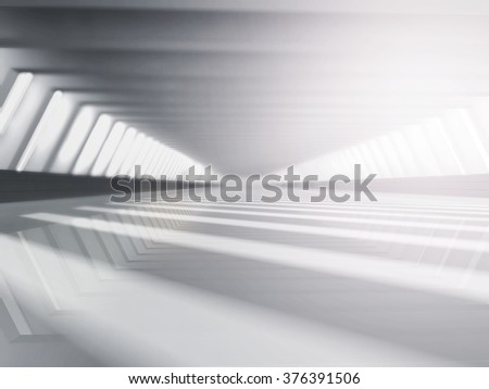 empty white open space 3D rendering - stock photo
