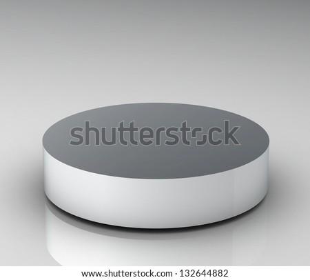 Empty white podium (high resolution 3D image) - stock photo