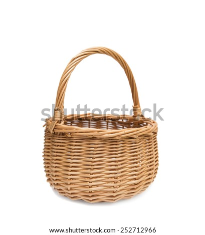 Empty wicker basket - stock photo
