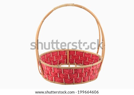 empty wicker basket isolated - stock photo