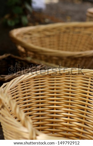 Empty wicker baskets - various shapes