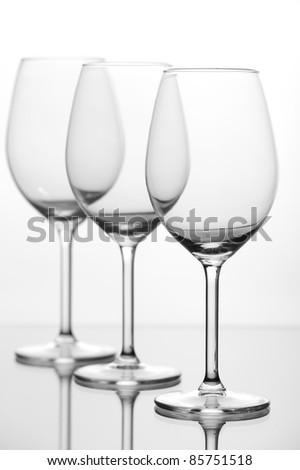 Empty wine glass - stock photo