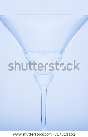 Empty wine glass, isolated on a colorful background
