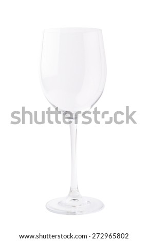 Empty wine glass isolated over the white background - stock photo