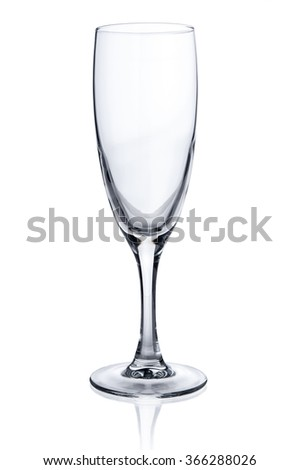 Empty wine glass on white background - stock photo