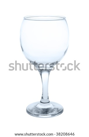 Empty wineglass with clipping path - stock photo