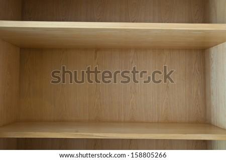 Empty wood shelf - stock photo