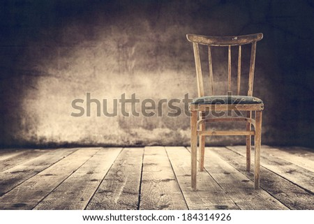 empty wooden chair  - stock photo