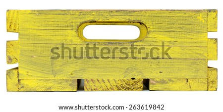 empty wooden crate isolated on white background - stock photo