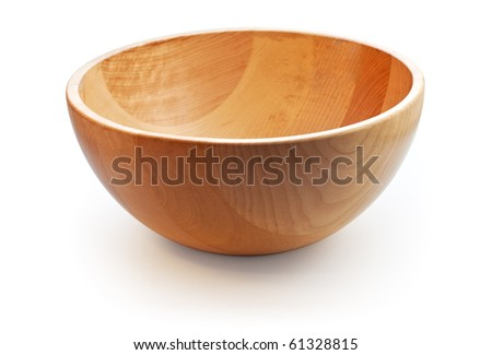 Empty wooden dish. Path included - stock photo