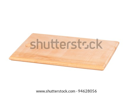 Empty wooden hardboard isolated on white background - stock photo