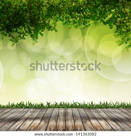 Empty wooden is abstract background bokeh light pattern