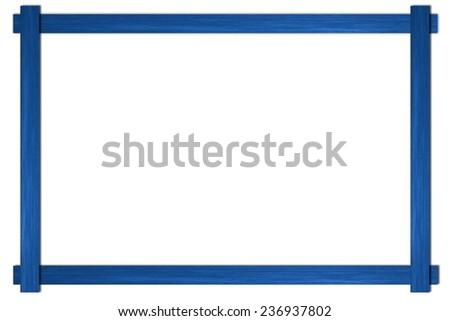 empty wooden photo frame isolated on white - stock photo