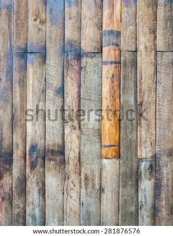 Empty wooden plank of the retro style house. - stock photo