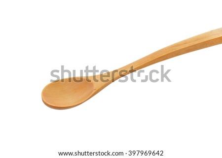 Empty wooden spoon - stock photo
