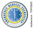 EMT emergency medical technician swatch - stock photo